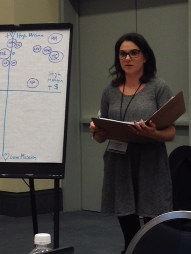 Board Member Vanessa Haro presents at a NeighborWorks training on Asset Management in December.